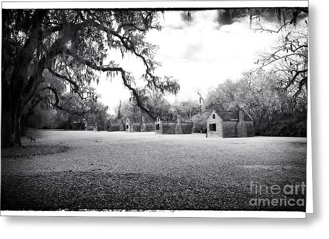 Slave Quarters Greeting Card by John Rizzuto