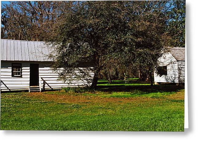 Slaves Photographs Greeting Cards - Slave Quarters, Magnolia Plantation And Greeting Card by Panoramic Images
