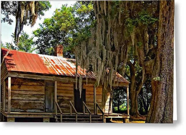 Slave Quarters Greeting Card by Steve Harrington