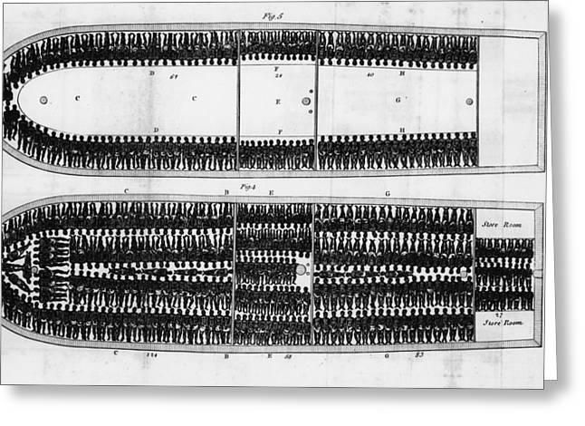 Slavery Ship Greeting Cards - SLAVE SHIP, 19th CENTURY Greeting Card by Granger