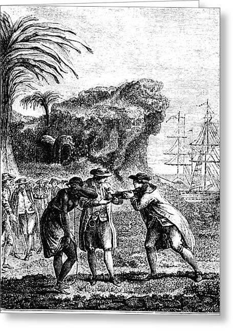 Slave Trade Greeting Card by Collection Abecasis