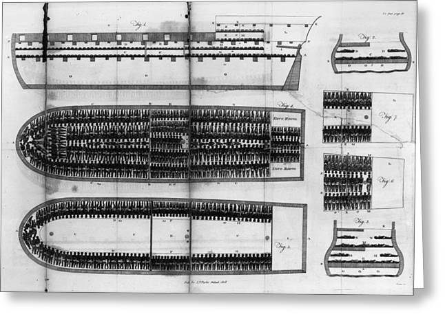 Slavery Ship Greeting Cards - SLAVE TRADE: SHIP, c1808 Greeting Card by Granger