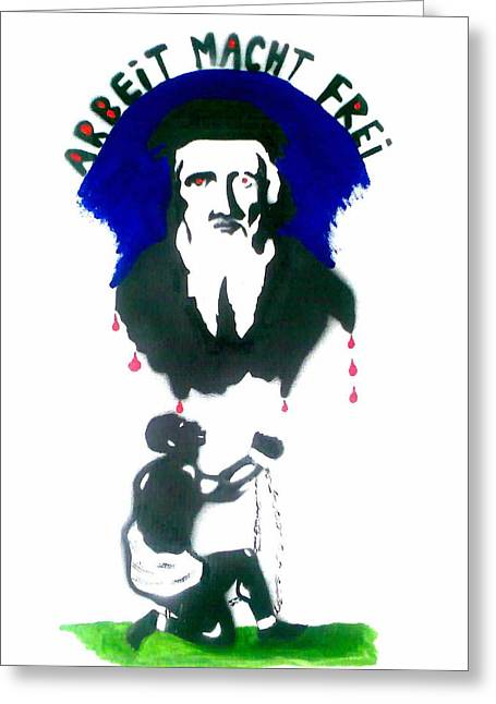 Slavery Paintings Greeting Cards - Slave Trader John Cabot Greeting Card by Merlin Vernon