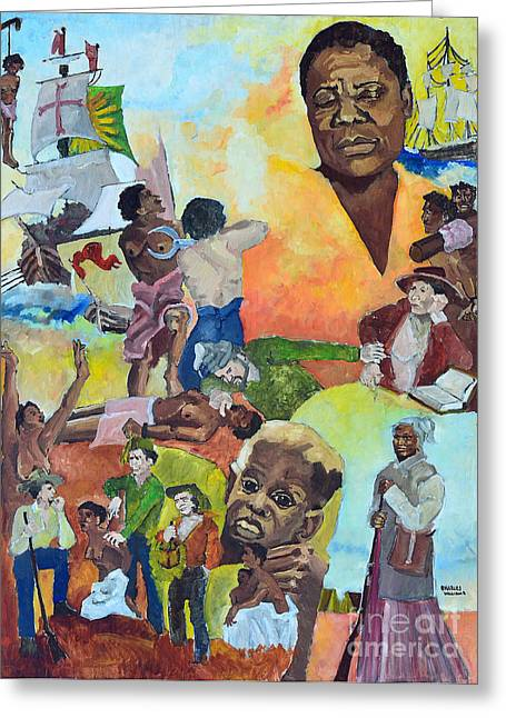 Slavery Paintings Greeting Cards - Slave Women Greeting Card by Charles M Williams