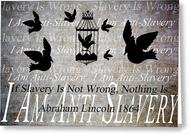 Slavery Greeting Card by Angelina Vick
