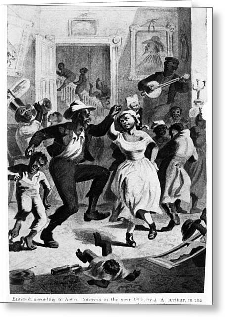 Slavery Dancing, C1865 Greeting Card by Granger