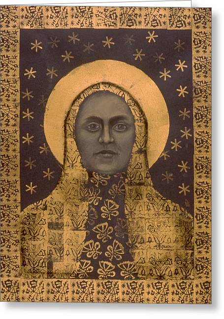Eternal Life Mixed Media Greeting Cards - Slavic Mother Goddess Greeting Card by Diana Perfect