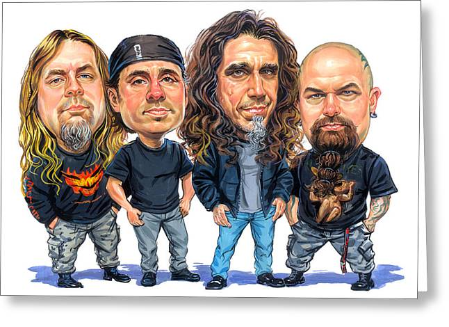 Jeff Greeting Cards - Slayer Greeting Card by Art