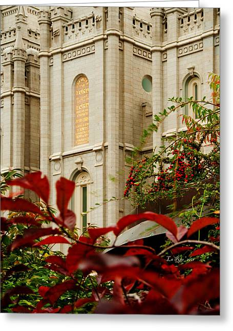 Slc Photographs Greeting Cards - SLC Temple Berries Turret Greeting Card by La Rae  Roberts