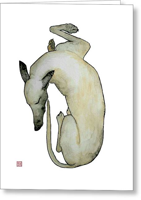 Greyhound Dog Greeting Cards - Sleep II Greeting Card by Richard Williamson