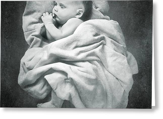 Precious Baby Greeting Cards - Sleep Like a Baby Greeting Card by Cindy Singleton