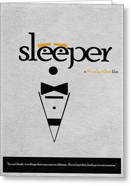Woody Allen Greeting Cards - Sleeper Greeting Card by Ayse Deniz