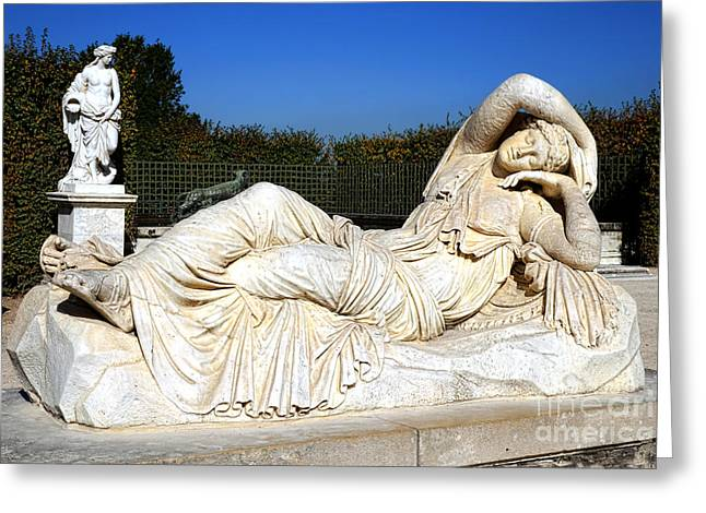 Classical Art Greeting Cards - Sleeping Ariane at Versailles  Greeting Card by Olivier Le Queinec