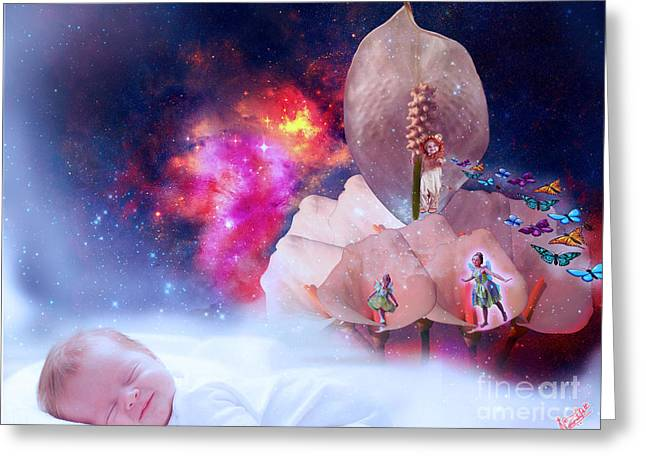 Omg Greeting Cards - Real Little baby dream Greeting Card by Artist Nandika  Dutt