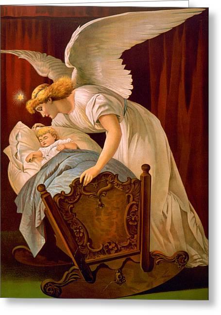Baby Jesus Digital Art Greeting Cards - Sleeping Baby Greeting Card by Munir Alawi
