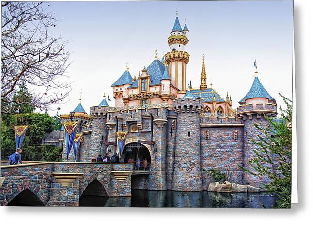 Magical Place Greeting Cards - Sleeping Beauty Castle Disneyland Side View Greeting Card by Thomas Woolworth