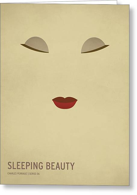 Vintage Design Greeting Cards - Sleeping Beauty Greeting Card by Christian Jackson