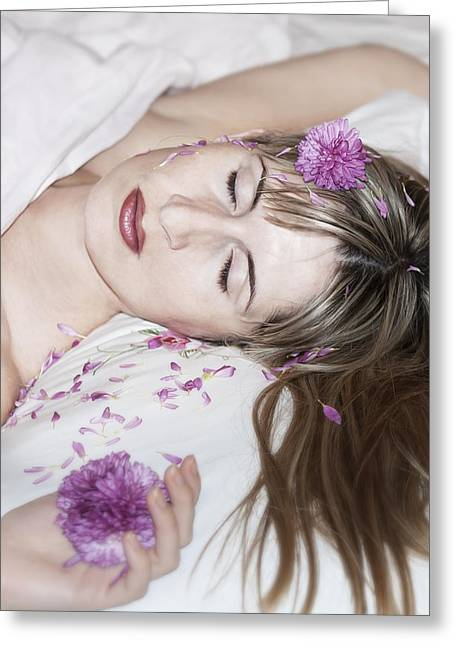 Long Bed Greeting Cards - Sleeping Beauty Greeting Card by Svetlana Sewell