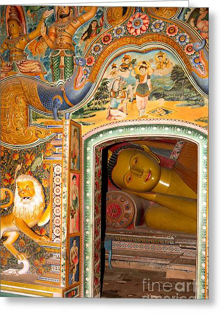 Ceylon Greeting Cards - Sleeping Buddha Greeting Card by Paul Cowan