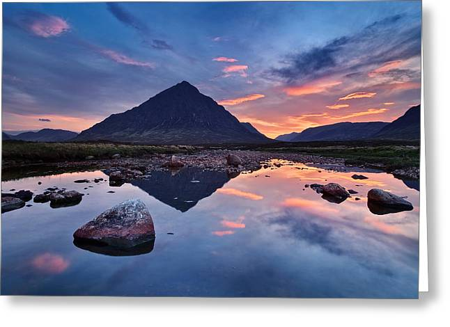 Reflection Pyrography Greeting Cards - Sleeping Giant - Buachaille Etive Mor Greeting Card by Michael Breitung