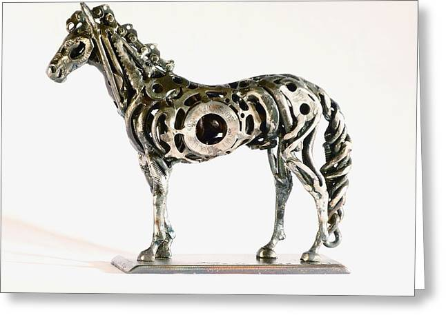Weld Sculptures Greeting Cards - Sleeping Horse #4 Greeting Card by Pierre Riche