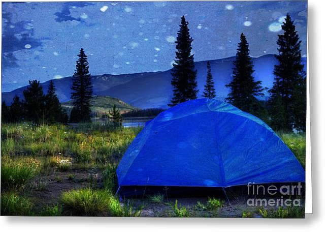 Sleeping Under The Stars Greeting Card by Juli Scalzi