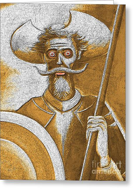 Don Quixote Greeting Cards - Sleepless In Spain Greeting Card by Al Bourassa