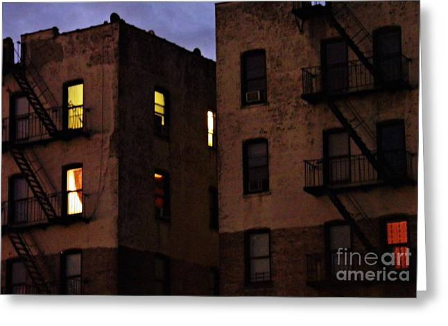 The Bronx Greeting Cards - Sleepless in the Bronx Greeting Card by Sarah Loft