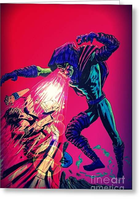 X Men Poster Greeting Cards - Sleepwalker 1 1960s Edition Greeting Card by Justin Moore