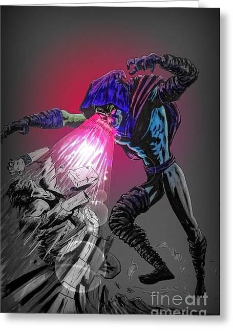X Men Poster Greeting Cards - Sleepwalker 1B Greeting Card by Justin Moore