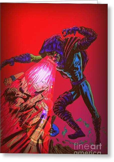 X Men Poster Greeting Cards - Sleepwalker 1C Greeting Card by Justin Moore