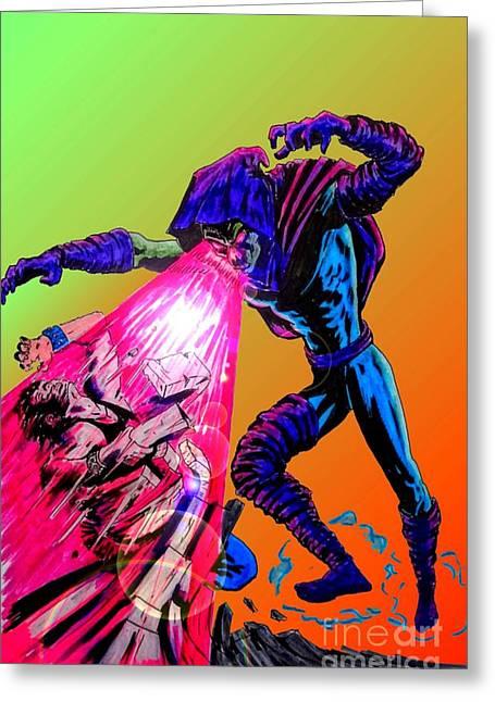 X Men Poster Greeting Cards - Sleepwalker 1D Greeting Card by Justin Moore