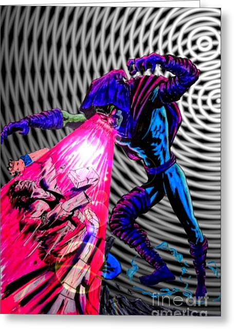 X Men Poster Greeting Cards - Sleepwalker 1F Greeting Card by Justin Moore