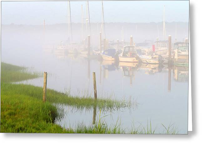 East Dennis Ma Greeting Cards - Sleepy Harbor Greeting Card by Dianne Cowen