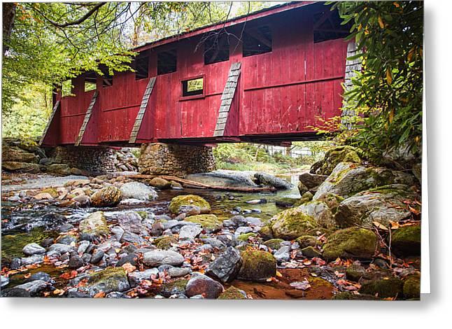 Covered Bridge Greeting Cards - Sleepy Hollow Covered Bridge Greeting Card by Carl Clay