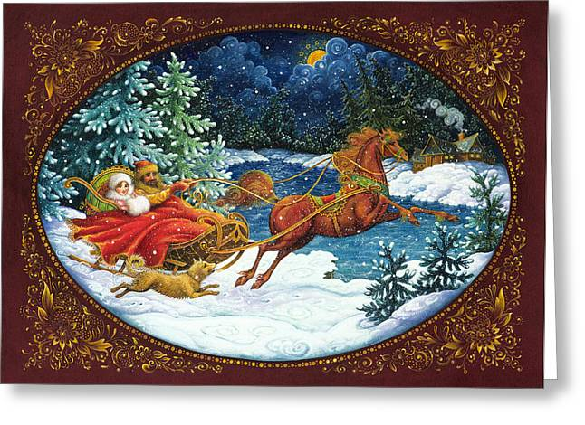 Sleigh Ride Greeting Card by Lynn Bywaters