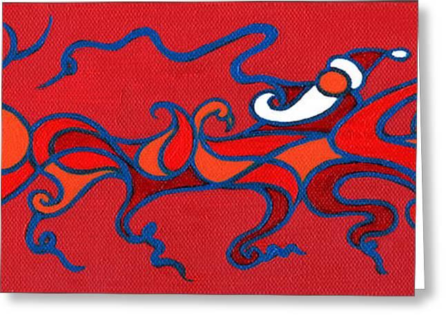 Rudolph Greeting Cards - Sleigh Ride Greeting Card by Raf Podowski
