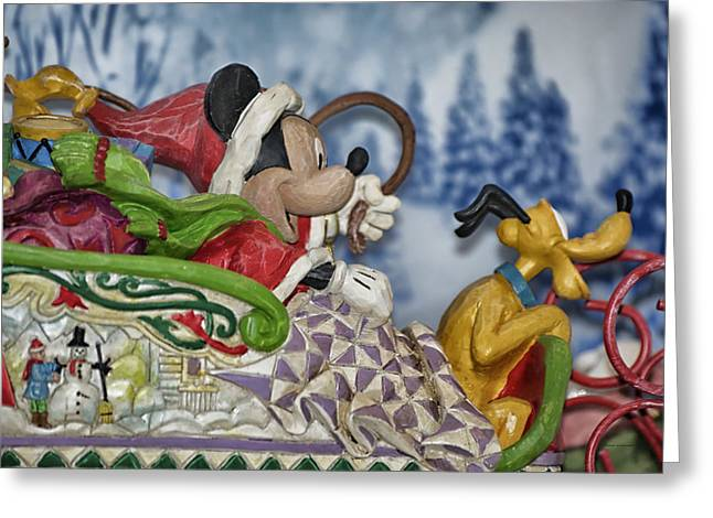 Epcot Center Greeting Cards - Sleigh Riding Greeting Card by Thomas Woolworth