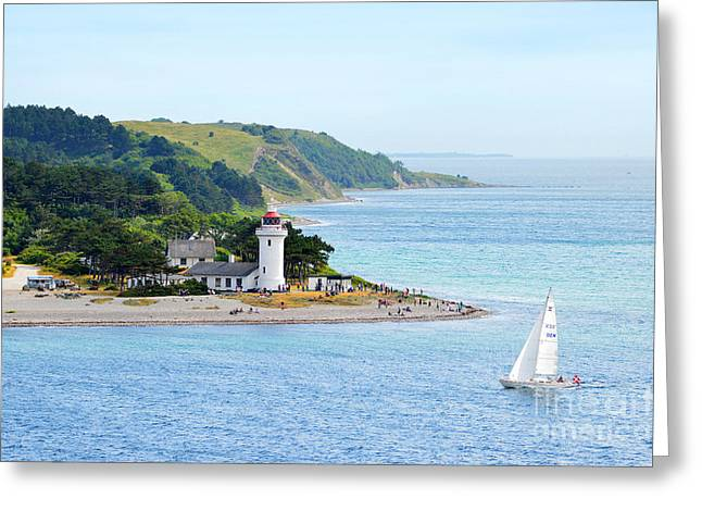 Catherine White Greeting Cards - Sletterhage Lighthouse in Denmark Greeting Card by Catherine Sherman