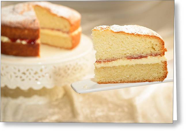 Victoria Greeting Cards - Slice Of Cake Greeting Card by Amanda And Christopher Elwell