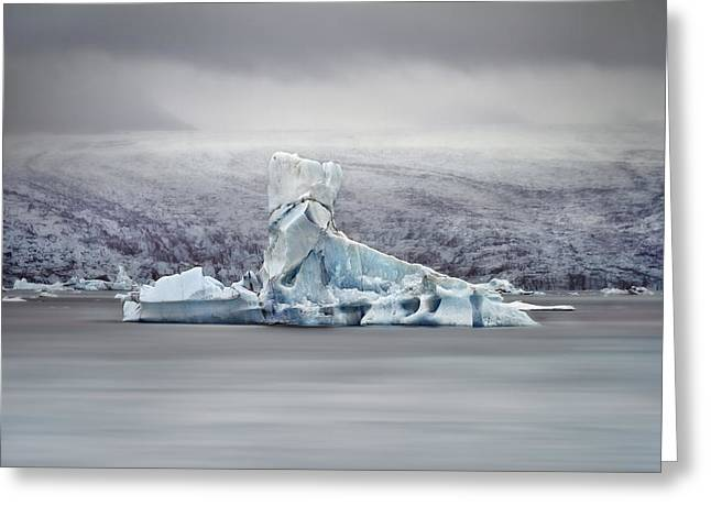 Glacial Greeting Cards - Slice Of Ice Greeting Card by Evelina Kremsdorf