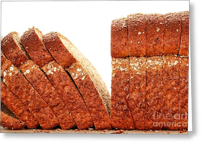 Sliced Bread Greeting Cards - Sliced Bread Greeting Card by Olivier Le Queinec