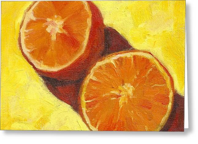 Sliced Grapefruit Greeting Card by Marlene Lee