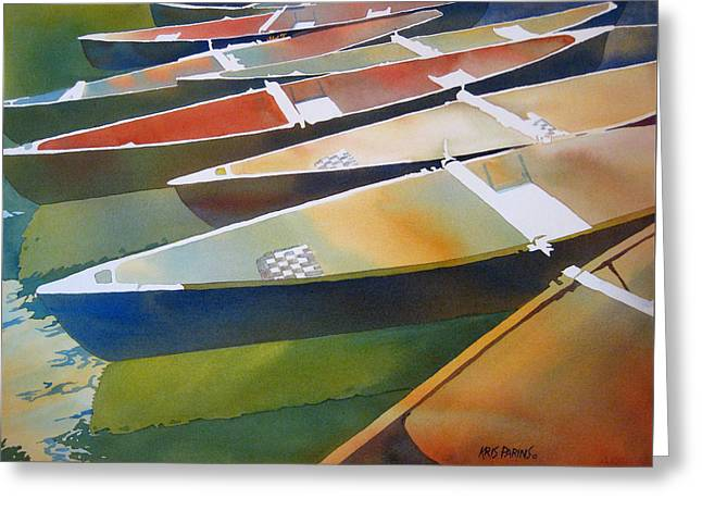 National Paintings Greeting Cards - Slices Greeting Card by Kris Parins