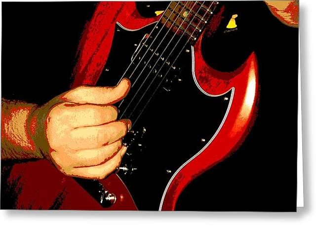 Slide Guitar Greeting Card by Chris Berry