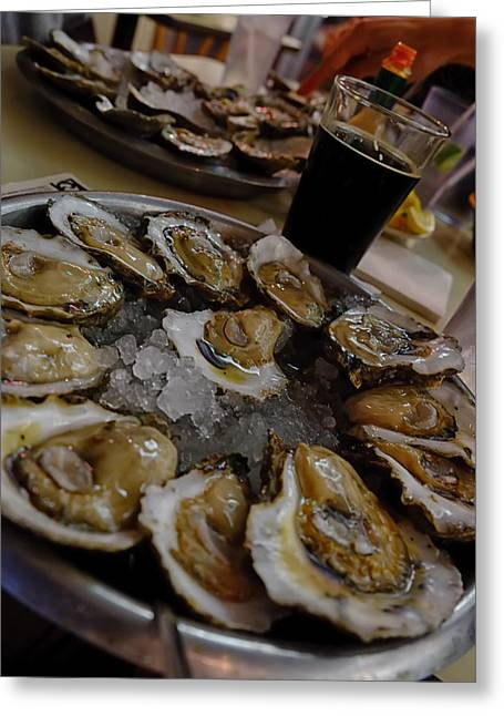Oyster On Half-shell Greeting Cards - Sliders Greeting Card by Ronnie Cole