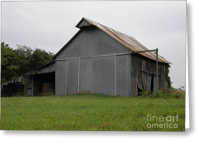 Old Barns Greeting Cards - Sliding Door Barn Greeting Card by Tom Branson