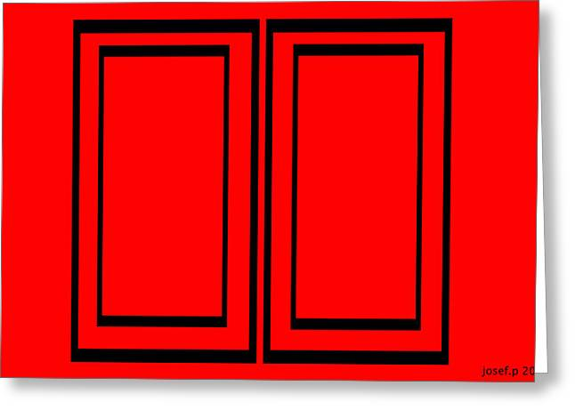 """""""sliding Doors"""" Greeting Cards - Sliding Doors    The Decisions We Make Greeting Card by Sir Josef  Putsche"""