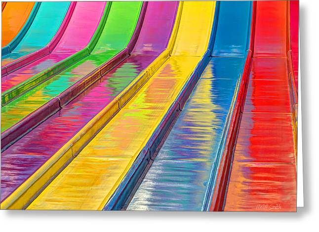 Amusements Greeting Cards - Sliding Into Summer Fun Greeting Card by Heidi Smith