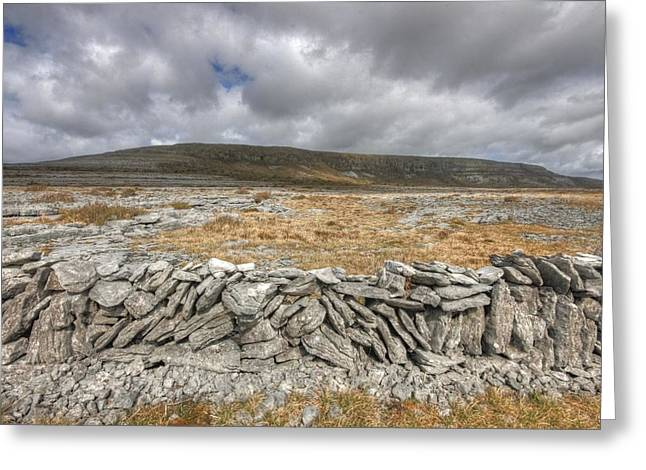 Wall-mounted Greeting Cards - Slieve Carran Greeting Card by John Quinn